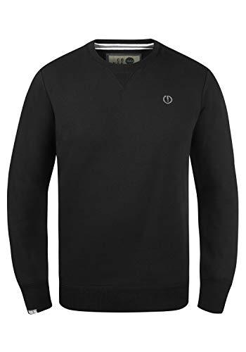 !Solid Benn O-Neck Herren Sweatshirt Pullover Pulli Mit Rundhalsausschnitt, Größe:M, Farbe:Black (9000)