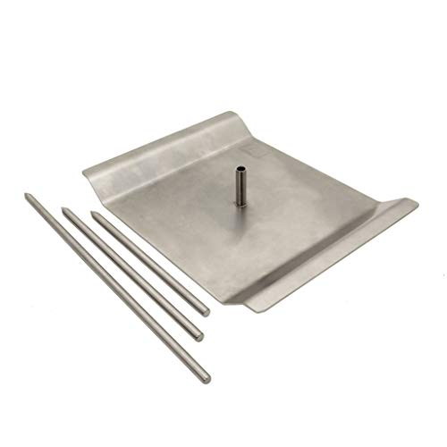 Skewer Hack By BBQ Hack Stainless Vertical Skewer For Barbecue Grill - Great For Tacos Al Pastor, Shawarma, Whole Chickens and Many Other Delicious Dishes!