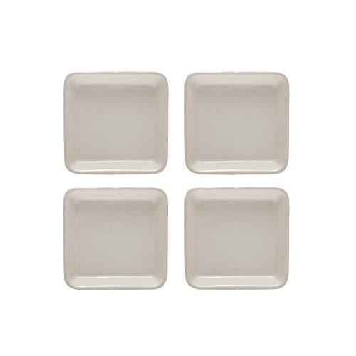 Mikasa Lot de 4 assiettes carrées Motif campagne française