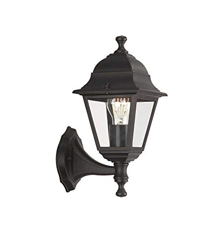 Massive 71425/01/30 Lima - Lanterna a parete per esterni, colore: Nero