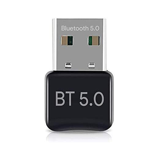 Adattatore Bluetooth, trasmettitore Bluetooth per PC – Adattatore Dongle 5.0 Bluetooth per computer portatile PC Supporto Windows 10/8/7/Vista/XP/Mouse e tastiera/auricolari/altoparlante, USB