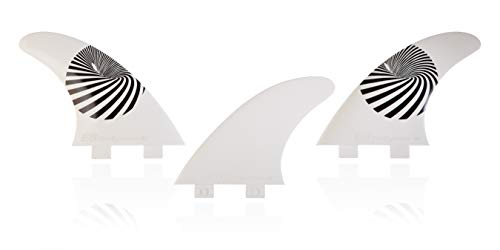 E8 FIN SYSTEM QUILLA Surf FCS Compatible Tri-Set A1 Equivalente AM1 Composite 50% Fibra DE Vidrio. Sistema Fusion. Talla L