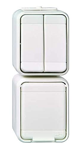 Elso Kombi-Serienschalter 448529 senkr. AquaTop licht/basaltgrau Komb.5 senkr.10/16A.STK.ATO lg