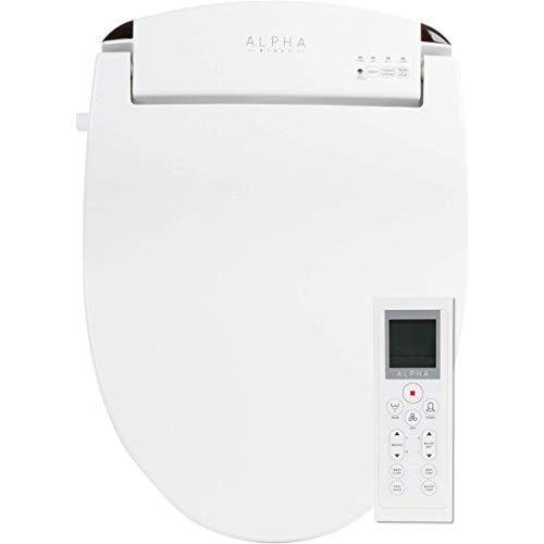 ALPHA JX Round Bidet Toilet Seat, White, Endless...