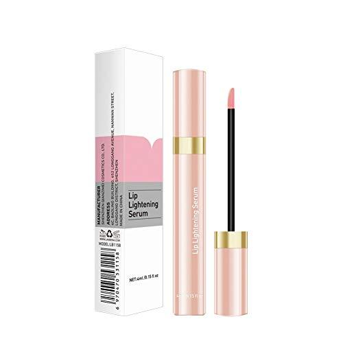 Luxsea Lip Lightening Serum Natural Lip Enhancer Lip Plumper Moisturizing Liquid Lip Gloss Reduce Pigmentation for Pink Lips Long Lasting Smooth Elasticity Fuller Sexy Lips