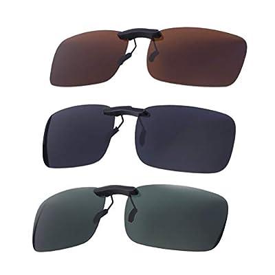 VORCOOL 3PCS Myopie-Sonnenbrille-polarisierte Klipp-Fahrer-Glas-Klipp-polarisierte
