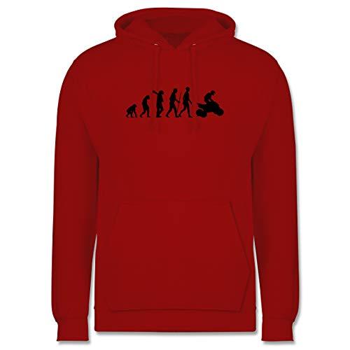 Shirtracer Evolution - Quad Evolution - XL - Rot - Geschenk - JH001 - Herren Hoodie und Kapuzenpullover für Männer