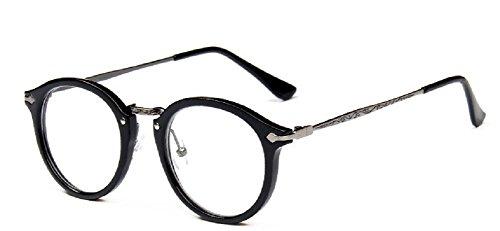 Embryform retro gafas redondas del marco del espejo del llano hombres y mujeres cara religiosa salvajes 9580
