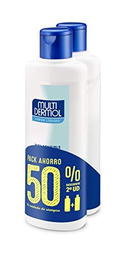 Multidermol Jabón Líquido de Ducha - Limpieza Eficaz sin Irritar, Paquete de 2 x 750 ml, Total: 1500 ml