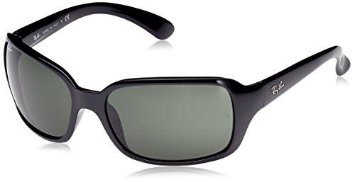 Ray-Ban Damen RB4068 Rechteckig Sonnenbrille, Black (601 Black)