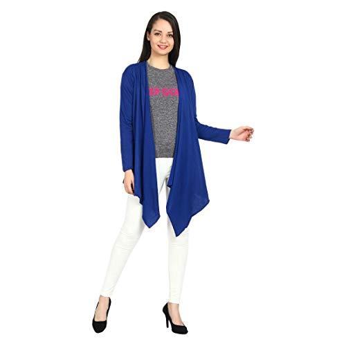 Teemoods Women's Cotton Full Sleeves Blue Waterfall Shrug, Fashionable Summer...