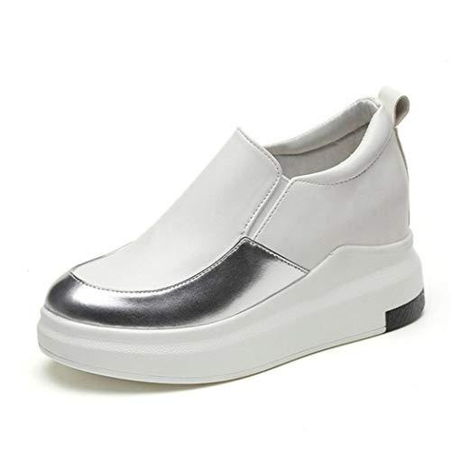 Frauen Vulkanisieren Schuhe Frühling Sommer Plateauschuhe Höhe Zunehmende Slip On Loafers Casual Wedges Turnschuhe