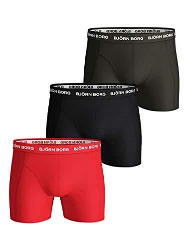 Bjorn Borg - Heren - 3-Pack Sammy Solid Boxershorts - Groen - XXL