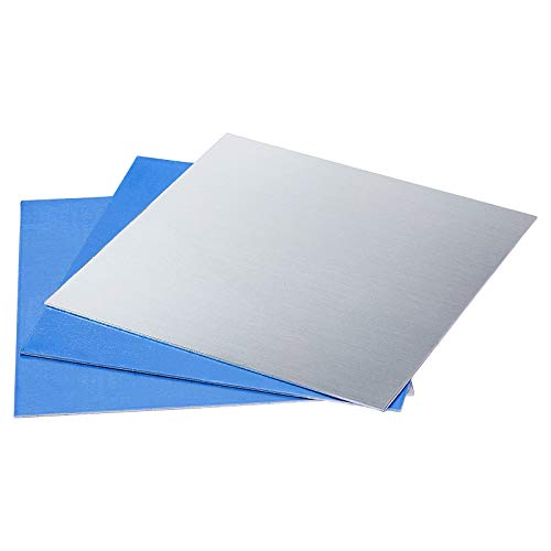 PH PandaHall 6pcs Blank Aluminium Stamping Sheets Thin Aluminum Sheets Practice Panel Plate Metal Craft for Jewelry Making Hand Stamping Embossing Etching, 7.8 inch