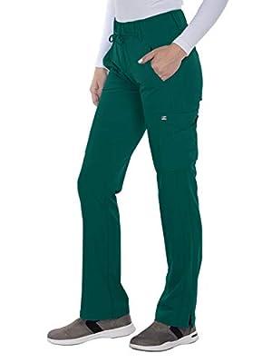 Grey's Anatomy Signature 2218 Women's Olivia Cargo Scrub Pant Hunter Green S