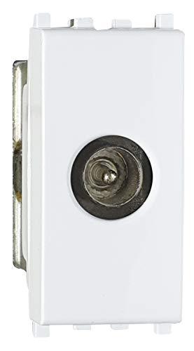 02475-M1/MATIX - Toma TV macho terminal, toma antena TV compatible Matix, blanco, 1 m, toma TV directa, fabricado en Italia