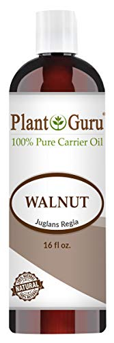 Walnut Oil 16 oz - Cold Pressed 100% Pure Natural - Skin, Body, Face, and Hair Growth Moisturizer. Great For Creams, Lotions, Lip balm and Soap Making