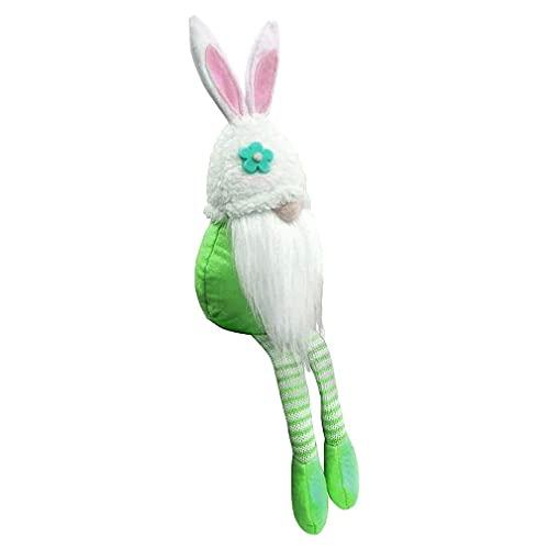 Deliu Osterzwerg Plüschpuppe Hase GNOME Sammlerpuppen handgemachte Tomte für Osterdekoration Tischschmuck grün