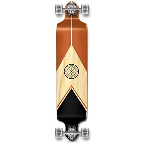 Yocaher Earth Series (Mountain) Complete Drop Down Skateboards Longboard w/Black Widow Premium 80A Grip Tape Aluminum Truck ABEC7 Bearing 70mm Skateboard Wheels