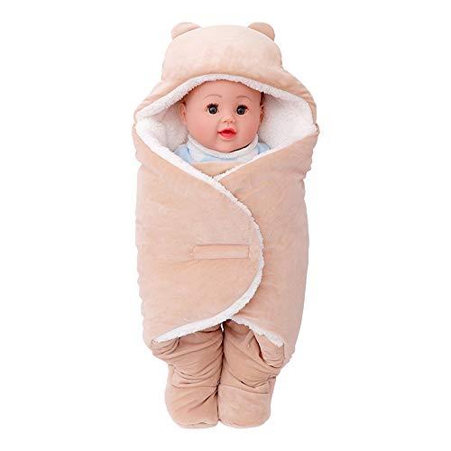 4 Farben Herbst und Winter 0-12 Monate Babyschlafsack Cartoon Beine Tasche neugeborenes Baby Anti-Kick Schlafsack schlafen,Braun,90 * 75