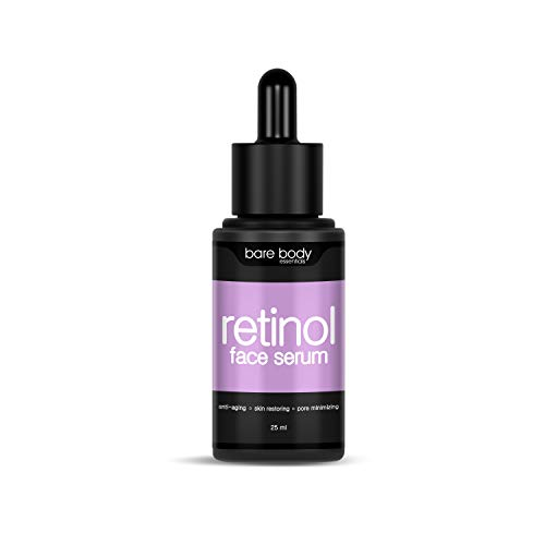 Bare Body Essentials Retinol Face Serum, 25ml, With Hyaluronic Acid, Vitamin E and Niacinamide, Anti Wrinkle, Anti Aging, For Pigmentation
