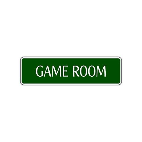 Yilooom Game Room Street Sign Gift Pinball Football Air Hockey Pool Billiard Recreation