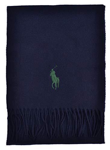 Ralph Lauren - Bufanda con flecos azul oscuro Talla única