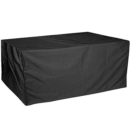 SEESEE.U Patio Furniture Covers Waterproof 230x165x80cm, Rectangular Patio Table Cover, Rectangular Garden Furniture Covers, Rain Snow Dust Wind-Proof, Water Resistant Fabric, for All Weathers