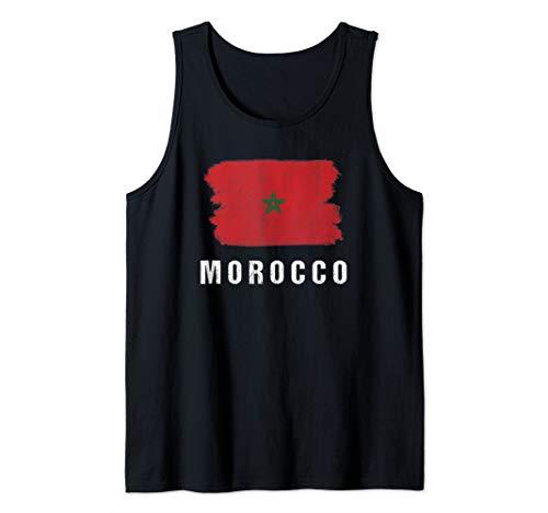 Gemalte Marokko Fahne / Marokkanische Flagge Fan Geschenk Tank Top