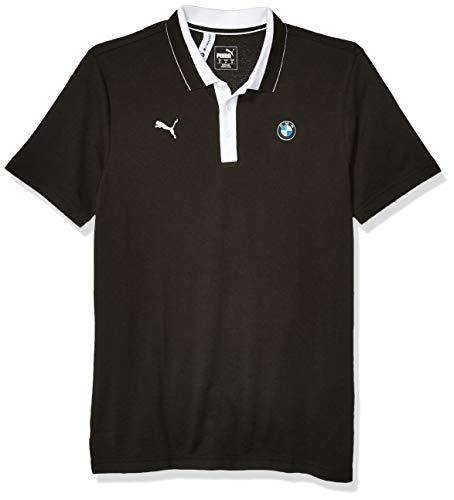 PUMA BMW Motorsport Polo Camisa, Negro Black, S para Hombre