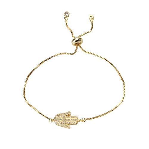 NC188 Collar Mano de Oro Pulsera de Ojo de Hamsa Material geométrico de Moda para Mujer Joyería Pulsera de la Suerte Regalo