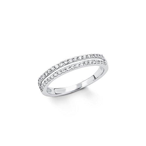 s.Oliver Ring für Damen aus rhodiniertem 925er Sterling Silber
