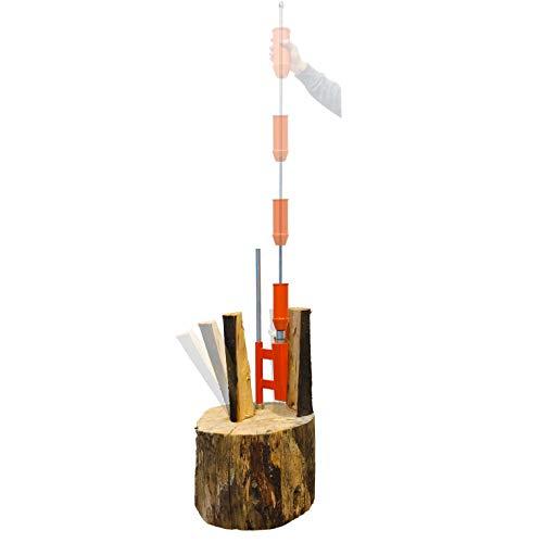 SPEED FORCE Log Splitter Kindling Splitter 14 Ton Firewood Splitter for Wood Splitting, Includes Heavy Duty Hamm