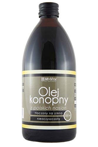 Hemp Seed Oil Cold Pressed (not Including THC) / Olej konopny 500ml