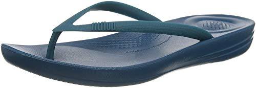 FitFlop Women's iQushion Ergonomic Flip-Flops, Sea Blue, 8