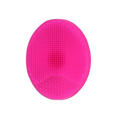 Zachte siliconen gezichtsreiniging Pads Bath Wash Brush Haar Gezicht Massage Shower Sponge Blackhead verwijderen Exfoliating voor Douche Wash Rosy Health Products