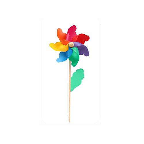 Behavetw à Vent, coloré, Jardin Manche en Bois Moulin à Vent à Vent Pinwheel Yard Art Decorinch 1pièce 24cm/9.45\
