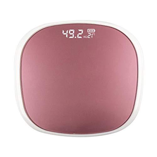 MHBY Báscula de Peso, báscula electrónica de batería Seca para el Cuerpo Humano, precisión del hogar, niños Adultos, Salud, pesaje, báscula LED, Bolsa de Seguridad
