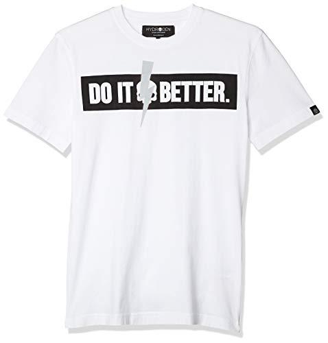 [ハイドロゲン] [正規輸入代理店]DO IT BETTER Tシャツ DO TEE メンズ ホワイト EU S (日本サイズS相当)