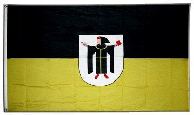 Flaggenfritze Fahne/Flagge Deutschland Stadt München mit Wappen + gratis Sticker