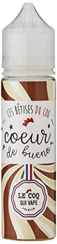 LE COQ QUI VAPE E-liquide pour cigarette électronique, Coeur de Bueno Sans nicotine ni tabac