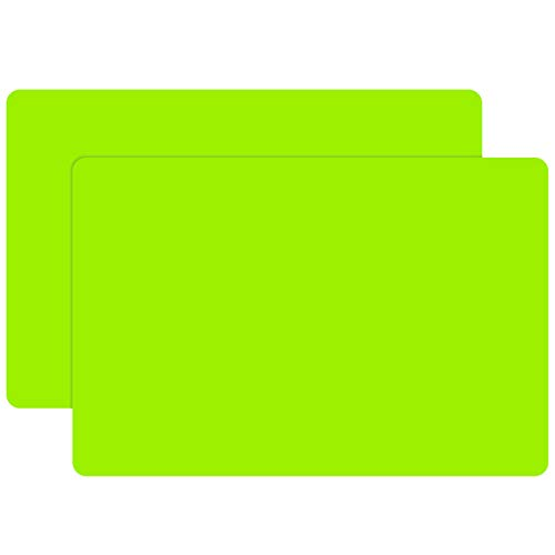 23.6 x 15.7 inch Silicone Mat for Resin, 2PCS Gartful X-Large Silicone Sheets for Jewelry Casting Mat for Resin Epoxy, Paints, Table Place Mats Countertop Protector, Green Color