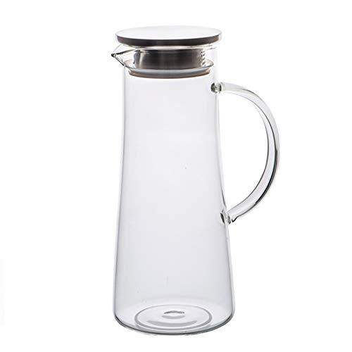 QAX Jarra de Cristal de 1500ML para Agua,Botella de Vidrio con Tapa...