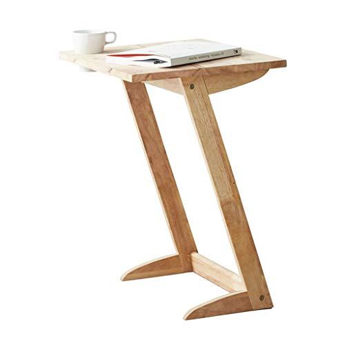 Table basse, créatif canapé table de chevet chambre coin salon table basse en bois massif tablette latérale petit appartement table basse (Color : Wood color, Size : 40 * 50 * 61cm)