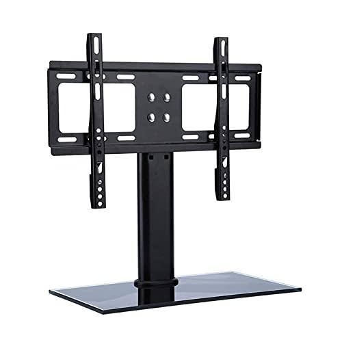 WECDS Soporte universal para TV ajustable con base de pedestal de metal, soporte para TV de pantalla plana (color negro)