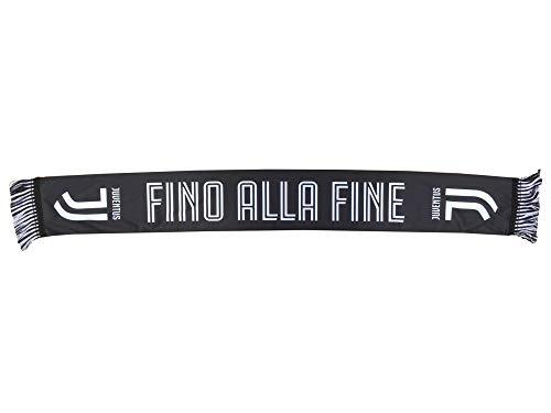 Juventus F.C. - Bufanda de la Juventus, en acrílico, oficial, con mensaje en italiano Fino alla fine