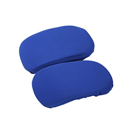 sharplace funda de cojín de reposabrazos de silla 4pcs Azul Rojo