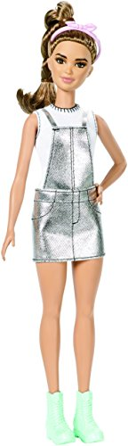Barbie- Fashionistas Sweet for Silver-Petite Bambola, Multicolore, DYY92