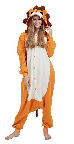 Pigiama Animali Cosplay Uomo Donna Adulti Costume Tuta Lion M