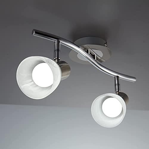 Focos giratorios,Lámpara LED techo,focos ajustables y giratorios para interiores,Adecuado para muchas ocasiones,como sala de estar,dormitorio,cocina,baño,pasillo,etc.(No incluye bombilla)